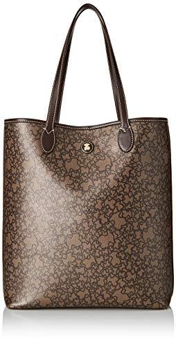 Tous Shopping Grande Kaos Mini, Shopper para Mujer, (Marrón Met.), 10.5x36x33 cm...