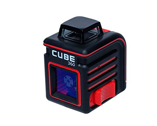 AdirPro Cube 360° Horizontal Cross Line Laser  Professional Self-Leveling Tool with ±4° Accuracy 230 ft Range (With Accessories)