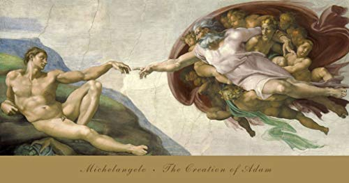 Michelangelo Buonarroti - The Creation Of Adam Art Print