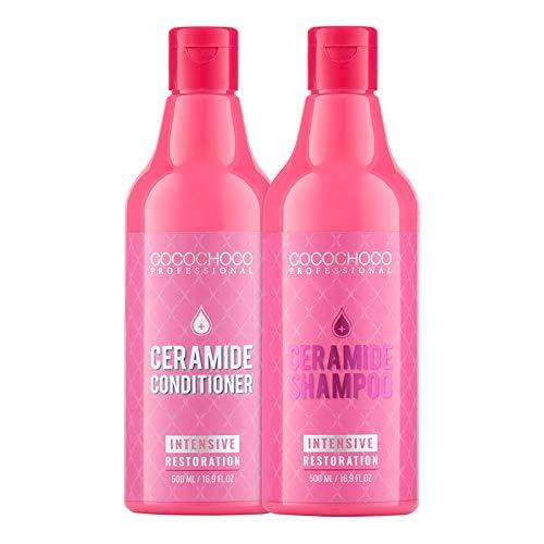 COCOCHOCO Satz Ceramide Shampoo & Haarkur für trockene und brüchige Haare 2x 500ml