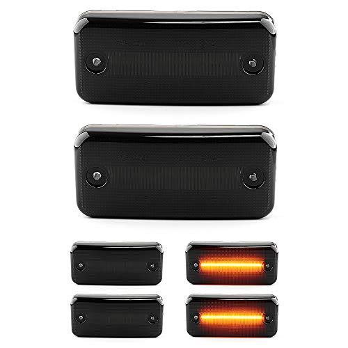 LIGHTDELUX Ersatz für 2 X LED Seiten-Markierungs-Leuchte Begrenzungsleuchte mit E4-Prüfzeichen Black Vision V-174406