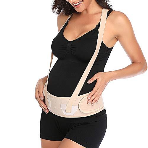Ancdream Ceinture de Maternité Soutien Lombaire et Abdominal pour Femme Enceinte - Bandeau de Grossesse Elastique et Comfortable - Maternity Belt