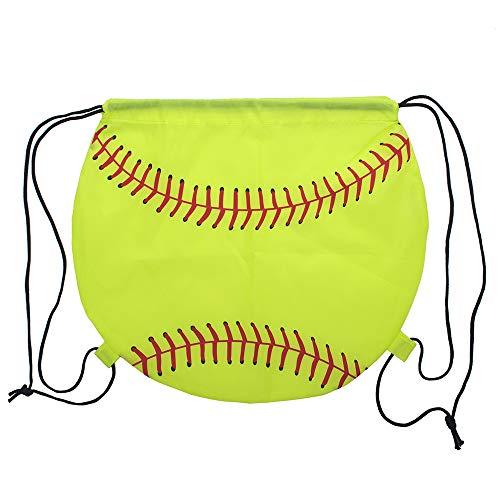 Muka American Football/Basketball/Softball 210D Polyester Kordelzug Rucksack Cinch Bag, Softball, Einheitsgröße,