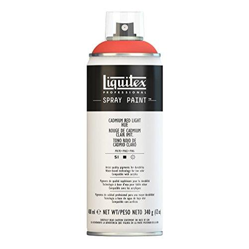 Liquitex Professional Spray Paint - Acrylfarbe, Farbspray auf Wasserbasis, lichtecht, 400 ml - Kadmium - Rot hell Imit.