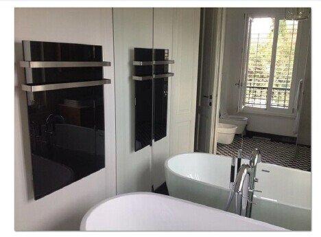 FERN INFRAROT GLASHEIZUNG neueste Technologie 300W Glaspaneele in Schwarz auf Carbon kaufen  Bild 1*