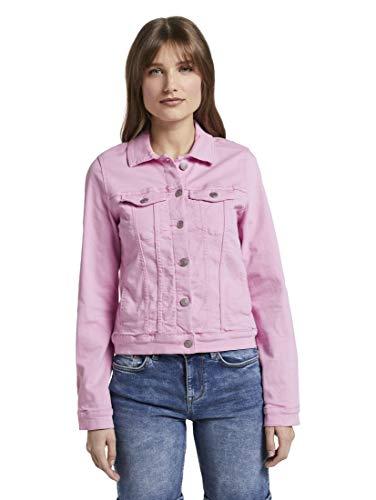 TOM TAILOR Denim Damen Riders Denim Jeansjacke, 22578-lavender Rose, L