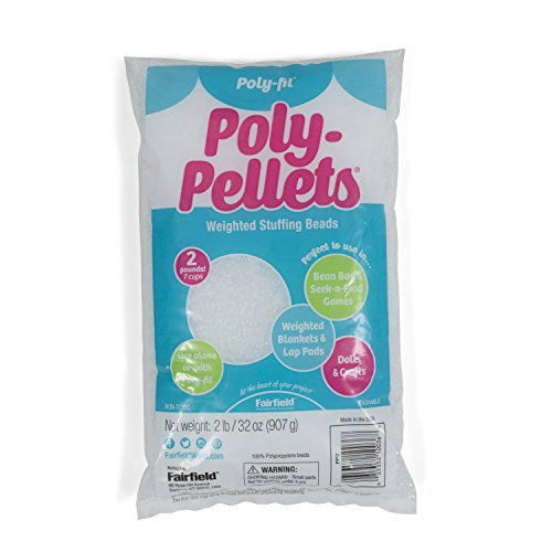 Poly-Fil PP2B Pellets Weighted Stuffing Beads 2 Pound Bag, Opaque White