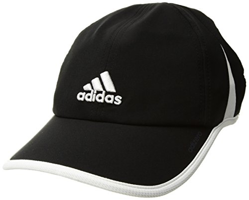 adidas Women's Adizero Relaxed Adjustable Performance Cap, Black/White, One Size