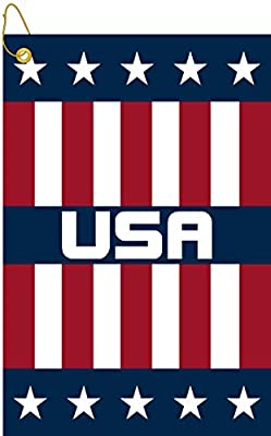 "Devant USA Woven Golf Towel, Red/White/Blue, 16"" x 24"""