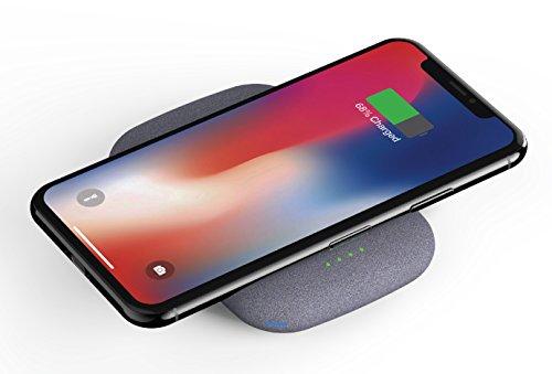 QiStone+ de Fonesalesman, el cargador Qi portátil totalmente inalámbrico con 4000 mAh | Compatible con iPhone 11, 11 Pro, X, Samsung Galaxy S10, S10+, S10e, S9+, S9, Huawei P20 Pro, Google Pix