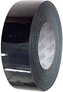 VViViD 3M 1080 Metallic Black Gloss Vinyl Detailing Wrap Pinstriping Tape 20ft Roll (4 Inch x 20ft)