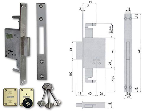 Cisa 57225.50.0 - Borja emb 50mm pal+a/b 2v fl