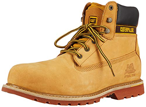 Cat Footwear Holton SB - Botas de seguridad para hombre, Beige (honey reset miel raz), 43