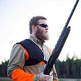 Shoulder Recoil Shield Pad, Doease Protective Shooting Pad Shotgun Shockproof Shoulder Pad with Adjustable Strap for Hunting (Black/Camouflage) (Black)