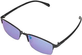 屋内および屋外での使用に適した、赤と緑の色覚異常補正メガネ、色覚障害のあるハーフフレーム
