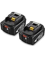 2 X BL1850B Topbatt 18V 5.0Ah Vervangende voor Batterij BL1815 BL1835 BL1845 LXT-400 BL1850 BL1850B BL1830 BL1840 Accuboormachine