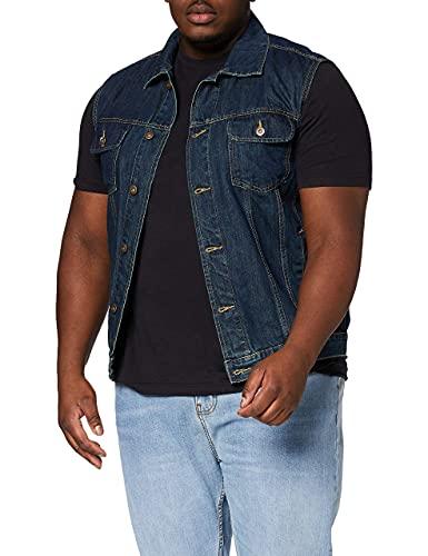 Urban Classics Denim Vest Chaleco, Azul (denimblue 319), XX-Large para Hombre