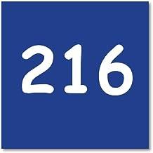 Huisnummerbordje Blauw   10x10 cm