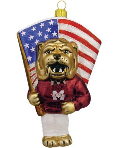 Champion NCAA Mississippi State Bulldogs Mascot Figural Glass Ornament