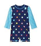 Hatley One Piece Rash Guard Swimsuits baño, Azul (Banderas Náuticas 400), 18-24 Meses para Bebés