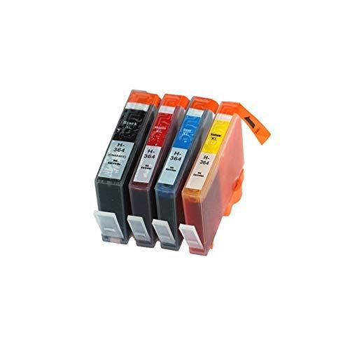 Wschen Compatible for el 364 364 BK Cartucho de Tinta for Photosmart 6515 6520 6525 7510 7515 7520 B010a B110a Impresoras B110c (Color : 1X BK)
