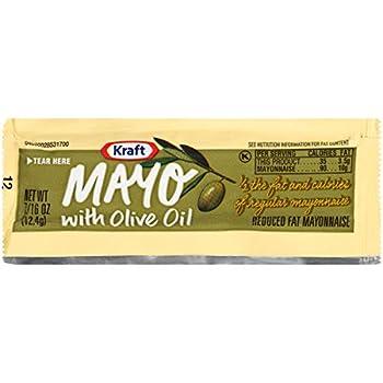 Kraft Mayo Olive Oil Single Serve Mayonnaise  200 Single Serve Packets