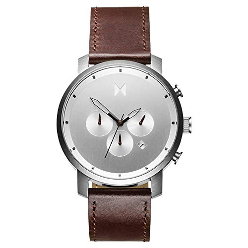 MVMT Men's Chronograph Watch with Analog Date | Silver Brown