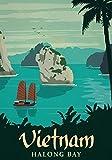 Generic Vietnam Vintage Reisen Fotodruck Poster Stadt