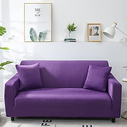 WXQY Fundas Antideslizantes elásticas de Color sólido Funda de sofá Antideslizante Funda de sofá para Mascotas Esquina en Forma de L Funda de sofá Antideslizante A19 2 plazas