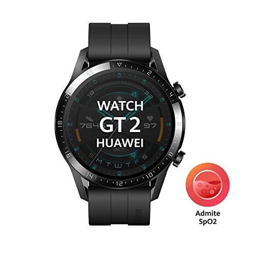 """Huawei Watch GT2 Sport - Smartwatch con Caja de 46 Mm (Hasta 2 Semanas de Batería, Pantalla Táctil Amoled de 1.39"""", GPS, 15 Modos Deportivos, Llamadas Bluetooth), Negro Mate miniatura"""