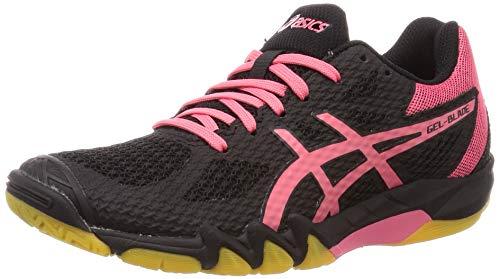 Asics 1072A032-001_39, Zapatos de Squash Mujer, Black Pink Cameo, EU
