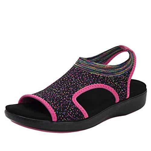 TRAQ BY ALEGRIA Qeen Womens Smart Walking Shoe Funplex Pink 11 M US