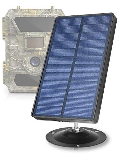 CREATIVE XP 2021 Trail Camera Solar Panel Kit - Waterproof 12V Solar Charger with 2400 mAh Rechargeable Lithium Battery - Outdoor Power for All Hunting Cameras