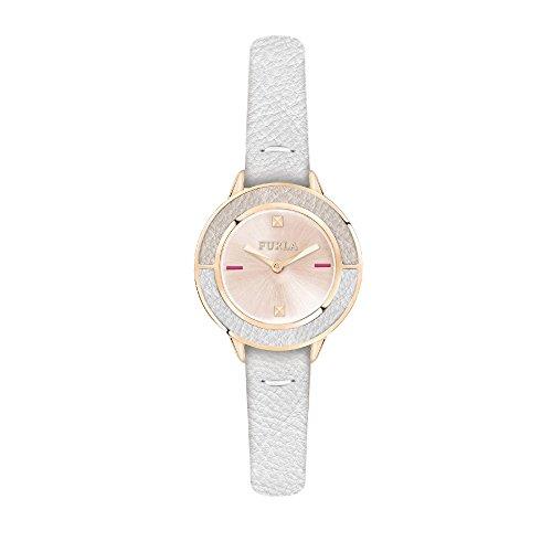 Furla CLUB Woman's Quartz White Leather Strap Watch, (Model: R4251109510)