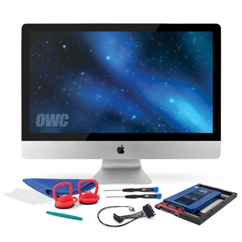 OWC 2.0TB SSD Upgrade Bundle For 2011 iMacs, OWC 2.0TB Mercury Extreme Pro 6G SSD, AdaptaDrive 2.5' to 3.5' Drive Converter Bracket, In-line Digital Thermal Sensor Cable, Installation tools