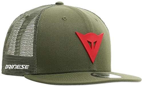 Dainese 9Fifty Trucker Snapback Cap, Sommer Kappe, grün/rot, einheitsgröße