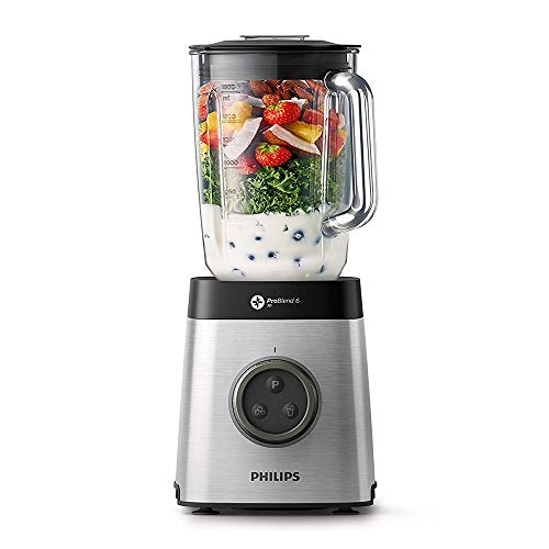 Philips HR3652/01 Avance Collection Blender with ProBlend 6 3D Technology, 1400 W, Silver