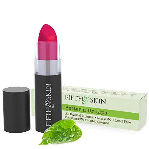 Fifth & Skin Better'n Ur Lips (MAUVE SUEDE) Vegan Lipstick - 100% Natural - Organic - Gluten Free - Cruelty Free - Lead Free - Paraben Free - Petroleum Free - Healthy Color that's Good for your Lips!