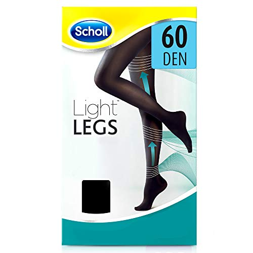 scholl Light Legs Collant Donna Compressione Graduata 60 Den, L, Nero, 1 Paio