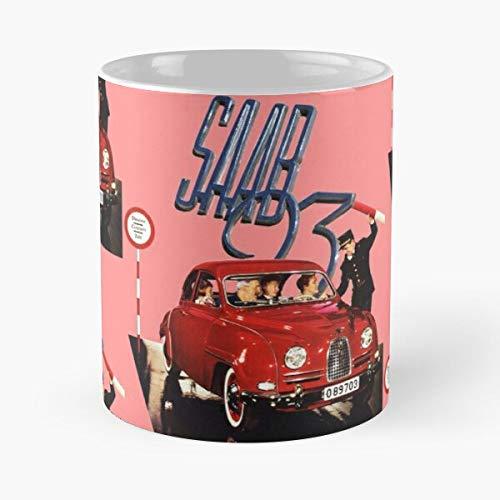 5TheWay Mug Saab Best 11 oz Kaffeebecher - Nespresso Tassen Kaffee Motive