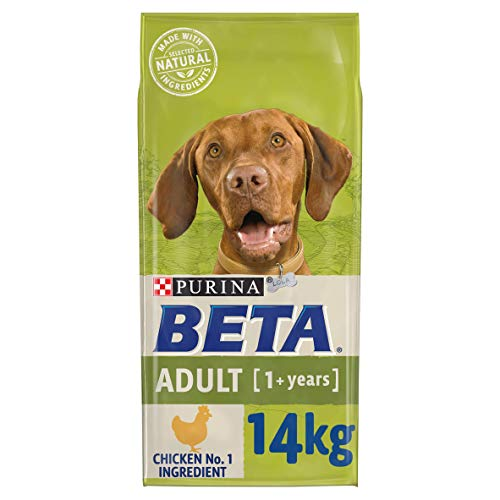 BETA Adult Dry Dog Food Chicken 14kg, transparent