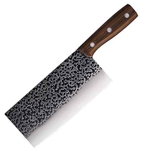 Afilado SHUOJI MASTER HECHO Hecho a mano Cuchillos de cocina forjada 7CR17MOV Cuchillo de acero inoxidable Cuchillo de cuchillo antiadherente cuchillo afilado 7.8 pulgadas cocina