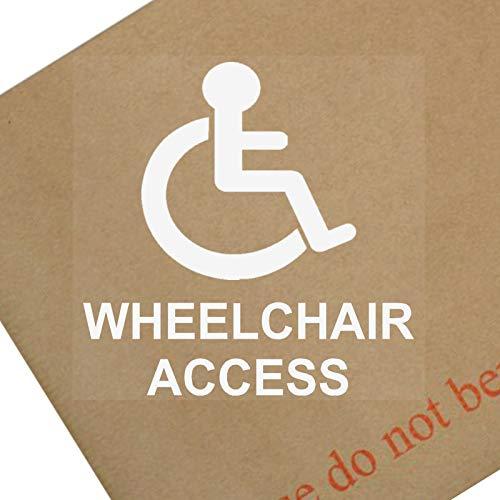 Platina plaats 1 x Rolstoel Access-Internal-Wit op Clear-Window Sticker-Sign, Auto, Waarschuwing, Merk, Logo, gehandicapten, invaliditeit, Badge, Sticker, Zakelijk, Plat, Huis,Toegankelijk