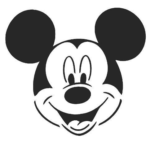 Mickey Mouse Airbrush, Wand-Kunst, aus Mylar, Schablone, wiederverwendbar, 125µm