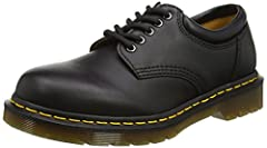 Leather lace-up shoe featuring cushioned collar, contrast stitching on welt, and textured rubber sole
