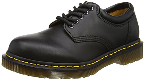 Dr. Martens 8053 5 Eye Padded Collar Shoe, Black Nappa, 5 UK/7 US Women