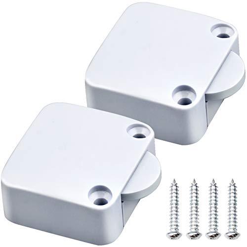 2X Interruptor de la Puerta Empuje de Superficie, Interruptor de Contacto para Puerta De Mueble 2A 250V Iluminación Interruptor Automático la luz de Puerta Del Interruptor del Empuje para Gabinete