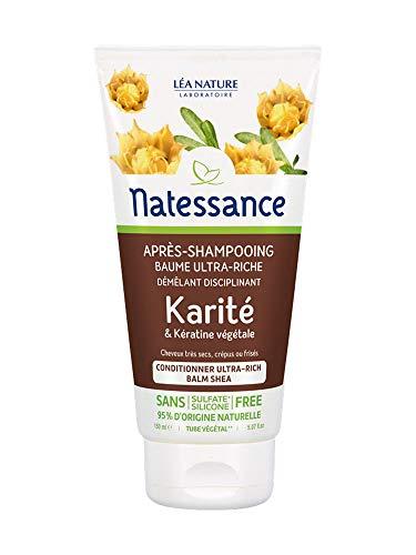 Natessance Après-Shampoing Baume Ultra-Riche Karité et Kératine Végétale 150 ml