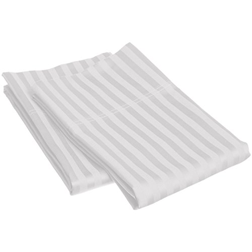 Blue Nile Mills 1500 Series Stnd Pillow Cases (Pair) Microfiber Stripe, Chrome