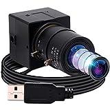 Cámara web 4K 30 fps, Ultra HD IMX415 con zoom USB, con objetivo gran angular de 2.8 – 12 mm, Plug & Play, 2160P...